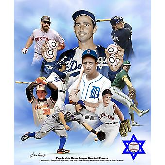 Top Jewish Major League Baseball Players Poster Print by Wishum Gregory (20 x 24)