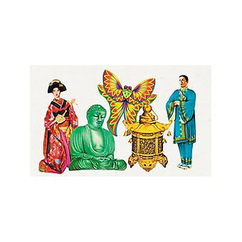 Oriental Cutouts (5 in a pack)