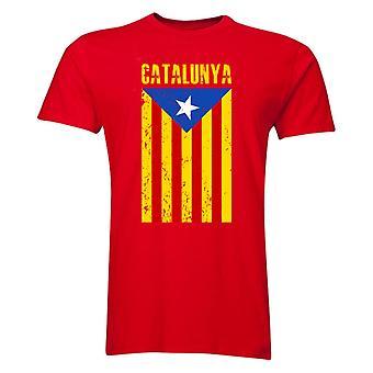 Catalonia Flag T-Shirt (rot)