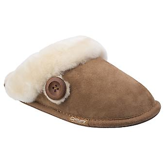 Cotswold Womens/Ladies Lechlade Sheepskin Mule Slippers