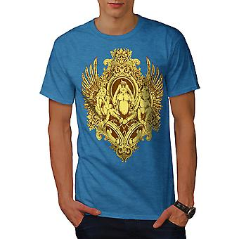 Mystisches Tier Vintage Herren königlichen BlueT-Shirt   Wellcoda