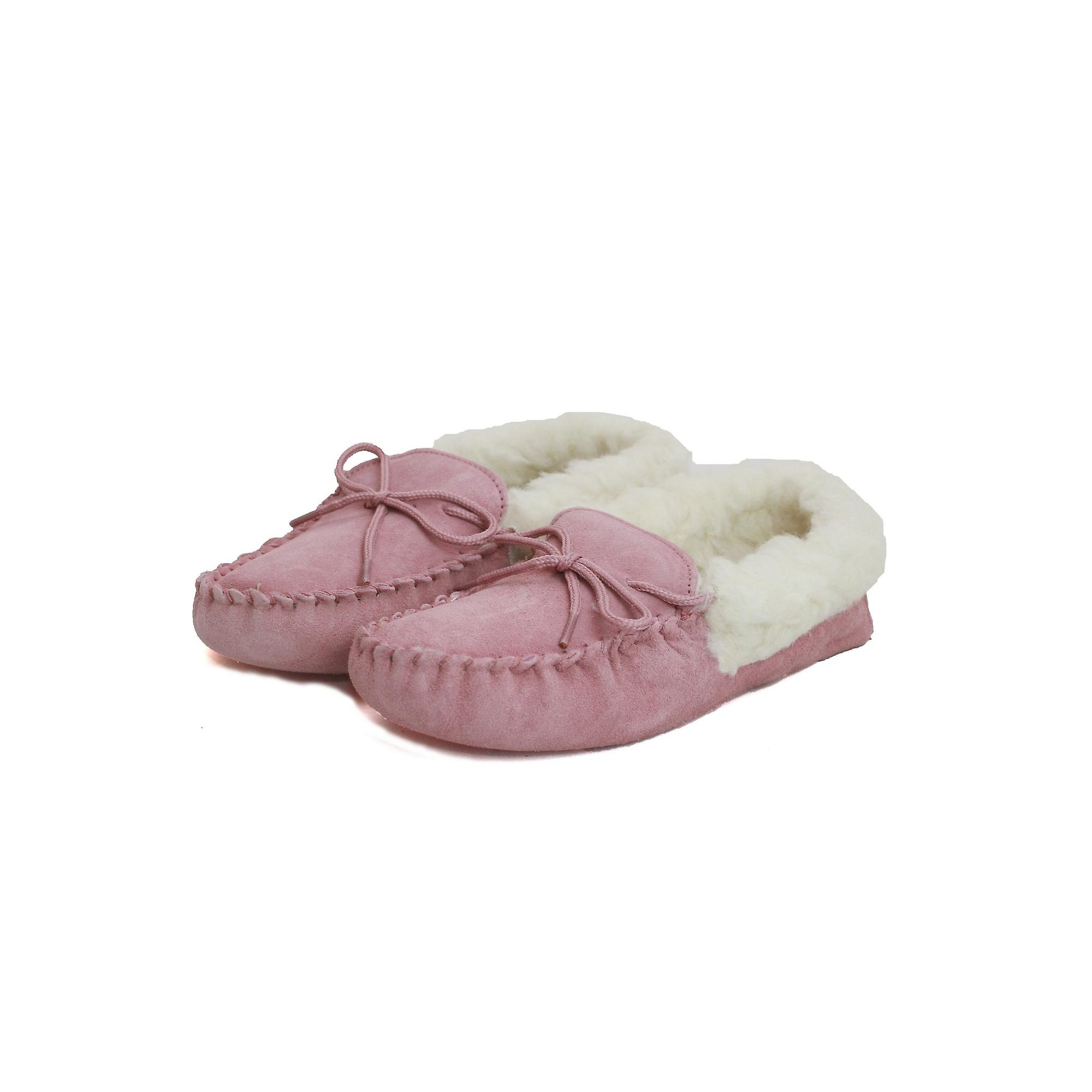Soft Moccasins Counties Sole Ladies Leather Wool Womens Lined Eastern vwI7x