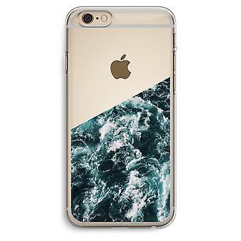 iPhone 6 プラス 6 s プラス透明ケース (ソフト) - 海の波