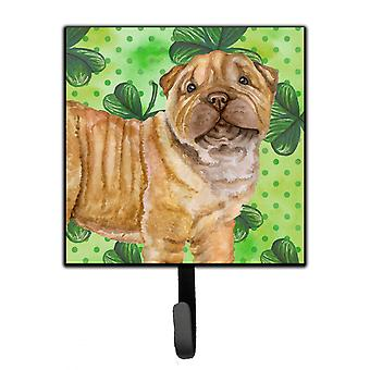 Carolines Treasures  BB9893SH4 Shar Pei Puppy St Patrick's Leash or Key Holder