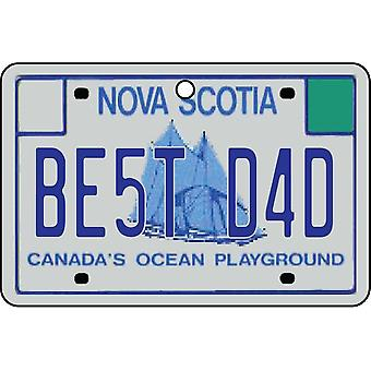 NOVA SCOTIA - Best Dad License Plate Car Air Freshener