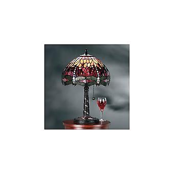 Interiors 1900 TP2M + DB234MR Red Dragonfly Single Light Table Lamp Wi