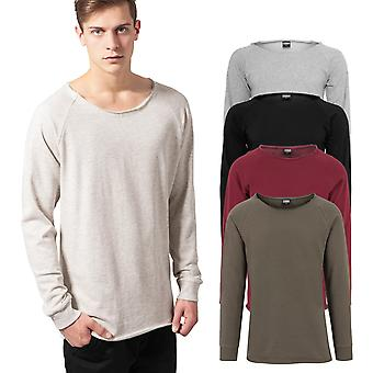 Urban klassikere - lang Terry sweater med åbne kanter