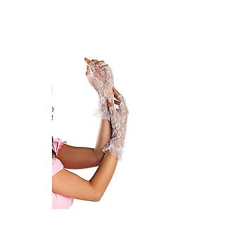 Be Wicked BW3004 Fingerless Mid Arm Length Lace Gloves
