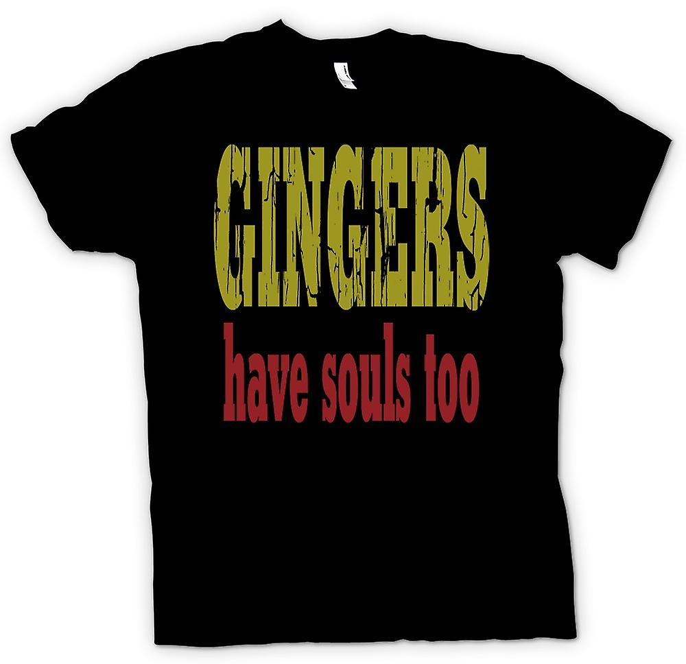Mens T-shirt - Gingers have souls too - Funny