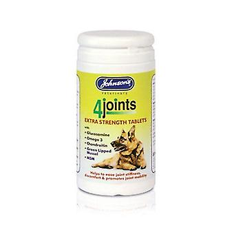 Johnsons 4 Joints Extra Strength Tablets for Dogs 100g - 4 pack