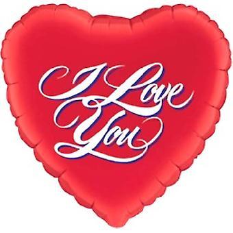 Folie ballon 'Jeg elsker dig'