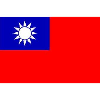 Taiwan Flag 5ft x 3ft With Eyelets