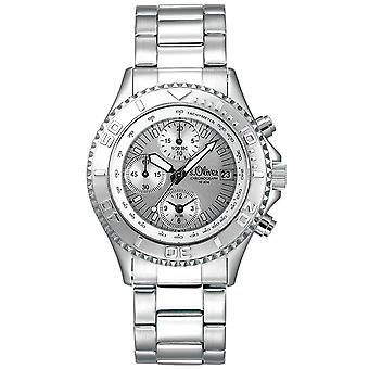 s.Oliver Unisex-Armbanduhr Analog Quarz Chronograph SO-15072-MCR