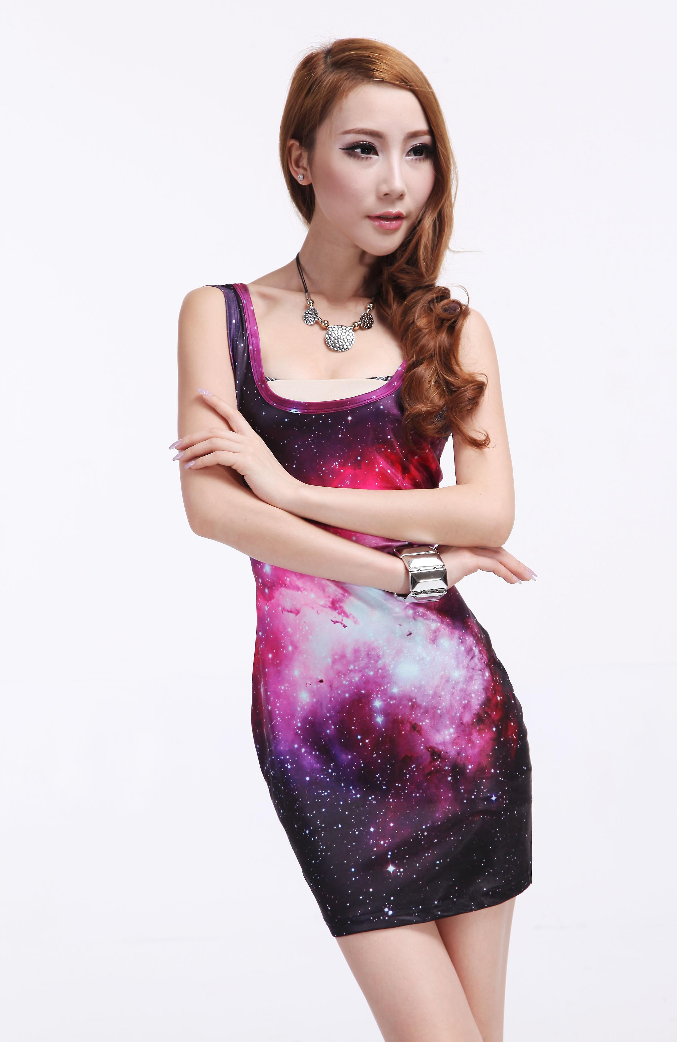 Waooh - Fashion - Short Dress pattern galaxy
