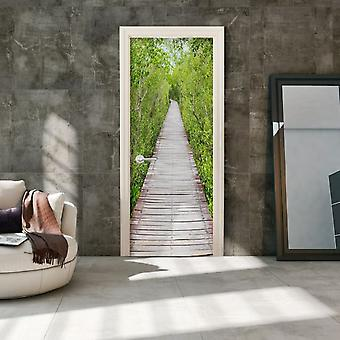 Wellindal Photo wallpaper on the door the path of nature (Decoration , Vinyls)