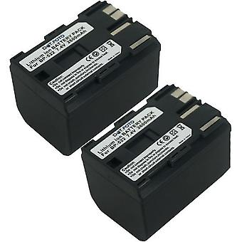 2 x Dot.Foto Canon BP-522 Replacement Battery - 7.4v / 2600mAh