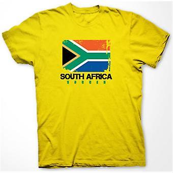 South Africa Soccer T-shirt (yellow)