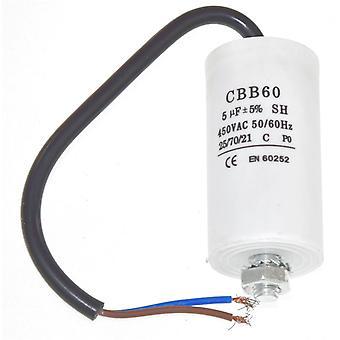 Universele 5UF condensator met 19cm kabel connectoren
