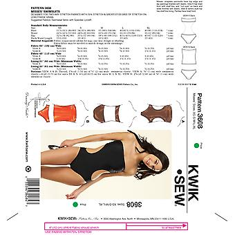 Strapless Swimsuits-XS-S-M-L-XL -*SEWING PATTERN*
