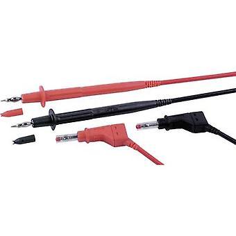 Test de sécurité Stäubli PLL-145/XZGL-410 FLEXI-2V 1,0 CM 100 lead et [prise de banane 4 mm - sonde de Test] 1 m noir, rouge