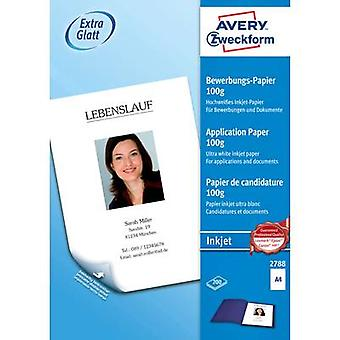 Papel de impresora de inyección de tinta Avery Zweckform 2788 A4