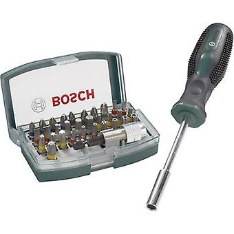 Bit set 32-piece Bosch Accessories Promoline 2607017189 Slot, Phillips, Pozidriv, Allen, TORX socket, TORX BO incl. scre