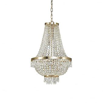 Ideal Lux Caesar 9 Bulb Pendant Light Gold
