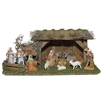 Voederbak Nativity kerst geboorte stabiel Paul houten wieg