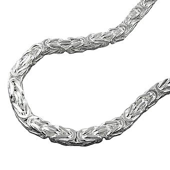 4mm King chain square shiny bracelet 925 Silver 19 cm