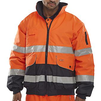 B-Seen Europa Two Tone Hi Vis Bomber Jacket En471 - Ebjorn