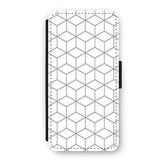 Samsung Galaxy S9 Plus Flip Case - Cubes black and white