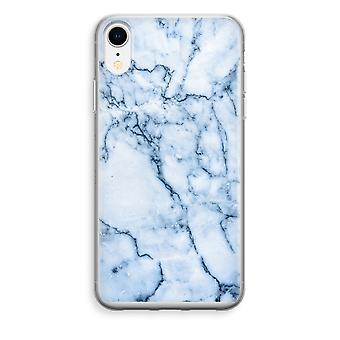 iPhone XR Transparant Case - Blue marble