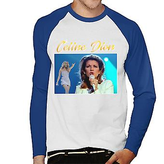Celine Dion Tribute Montage Men's Baseball Long Sleeved T-Shirt