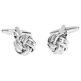 David Van Hagen Shiny Knot Cufflinks - Silver