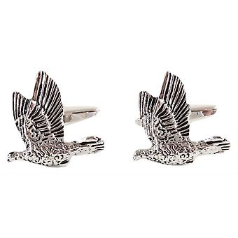 David Van Hagen Game Bird Cufflinks - Silver