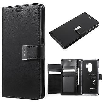 Mercury GOOSPERY Rich Diary to Samsung Galaxy S9 Plus-Black