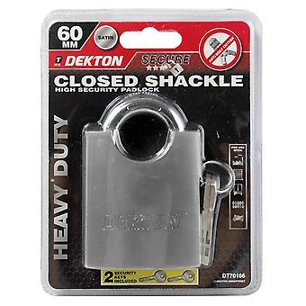 Dekton 60mm Closed Shackle High Security Padlock