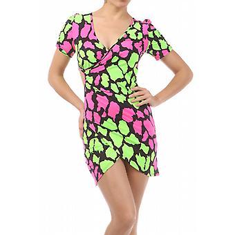 Waooh - Fashion - farbiger Sommer Kleid & Grund Giraffe - Lycra