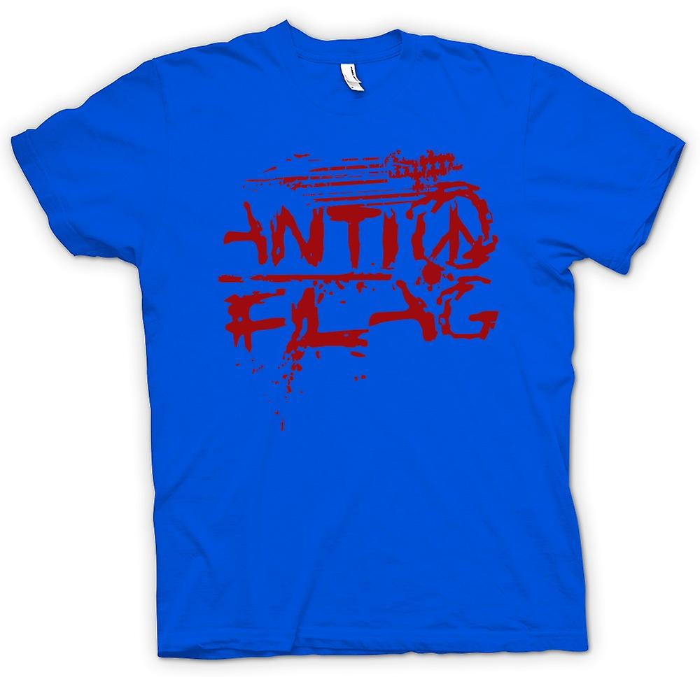 Herr T-shirt-Anti - flagga - U.S. - Punk rockband - anarki