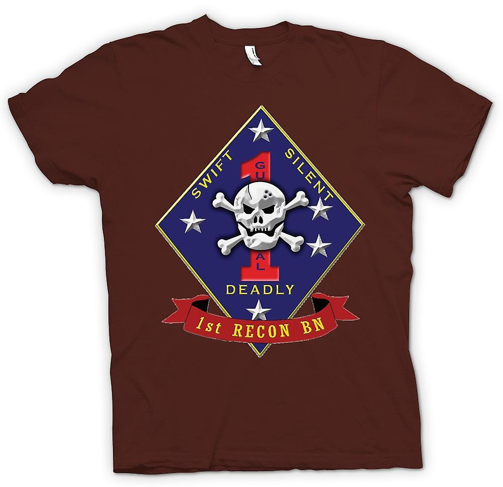 Heren T-shirt - Swift Silent Deadly - USMC Recon