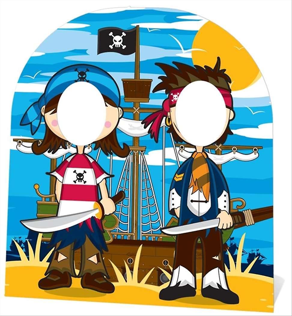 Kleiner Pirat Freunde stehen in (Kindergröße) Pappausschnitt / Standee