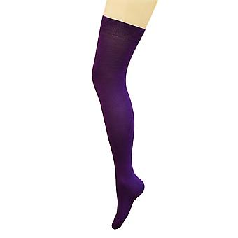 Flirt Plain Purple Knee High Socks