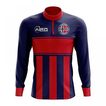 Norway Concept Football Half Zip Midlayer Top (Blue-Red)