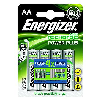 Energizer 2000mAh Power Plus Rechargable Batteries (Pack of 4)