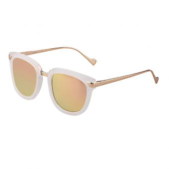 Bertha Jenna Polarized Sunglasses - Clear/Rose Gold