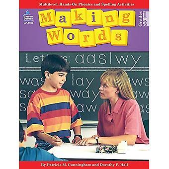 Maken de woorden: Multilevel, Hands-On, ontwikkelingsachterstand juiste Spelling en Phonics activiteiten