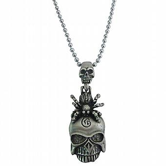 Halloween Gift Scorpion On Skull Head Hip Hop Pendant