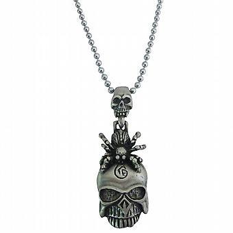 Halloween Gift Scorpion op schedel hoofd hiphop hanger