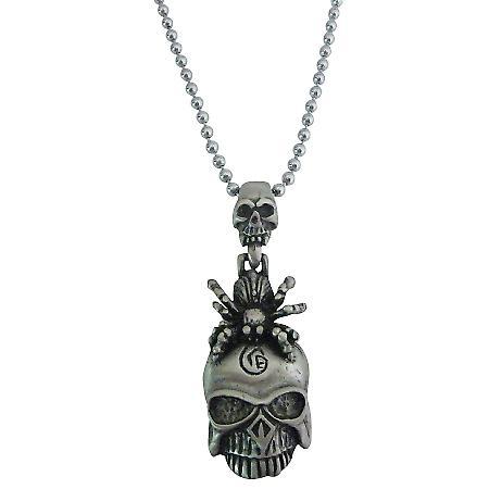 Halloween Gift Scorpion On Skull Head Hip Hop Pendant