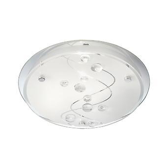 Frostat glas 32cm infälld tak armatur - Searchlight 3020-32CC